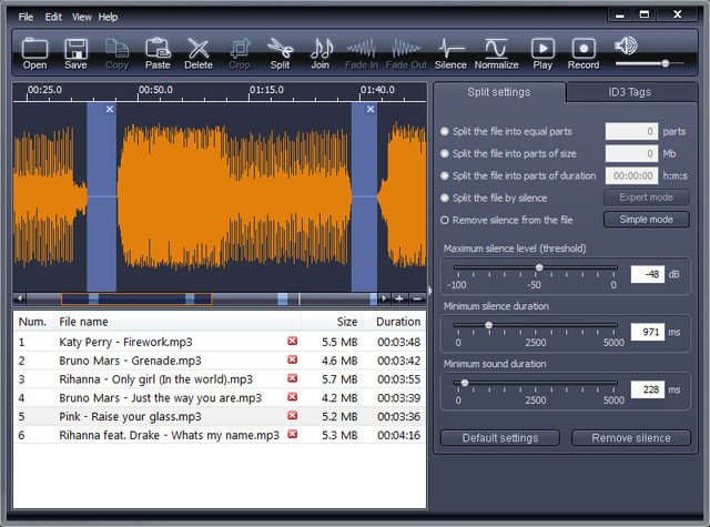 X-Wave MP3 Cutter Joiner Screen shot